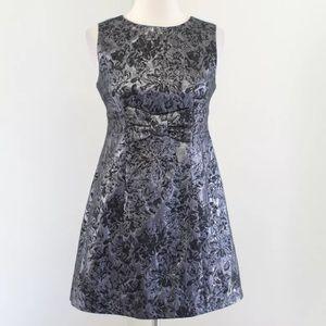 BB Dakota Metallic Bow Mini Party Dress